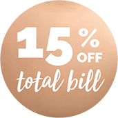 15% off your meal