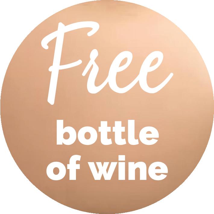 Free bottle of wine