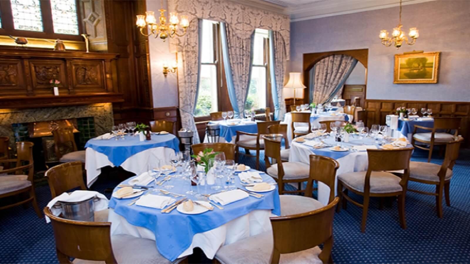 The Oak Room at Moor Hall Hotel